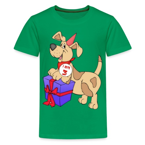 I am 3 doggy - Teenage Premium T-Shirt