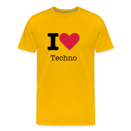T-shirts ~ Mannen Premium T-shirt ~ I Love Techno
