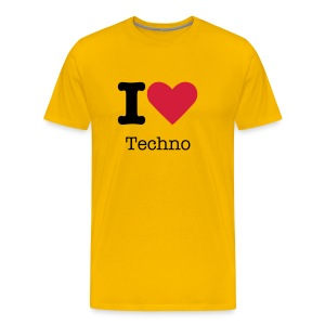 I Love Techno - Mannen Premium T-shirt