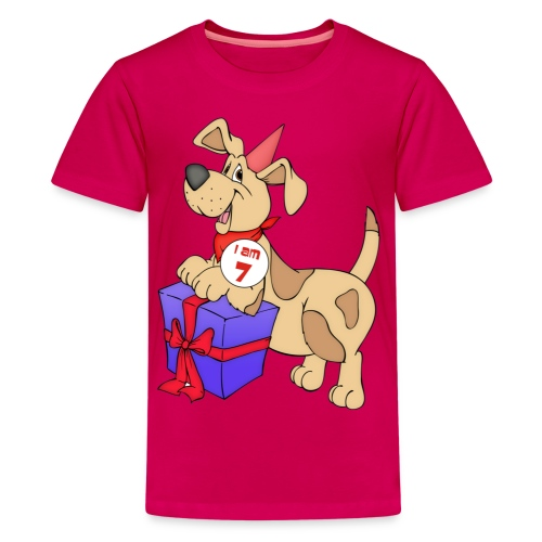 I am 7 doggy - Teenage Premium T-Shirt