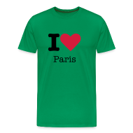 T-shirts ~ Mannen Premium T-shirt ~ I Love Paris