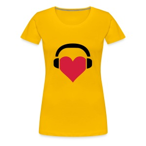 Heart Headphones - Vrouwen Premium T-shirt