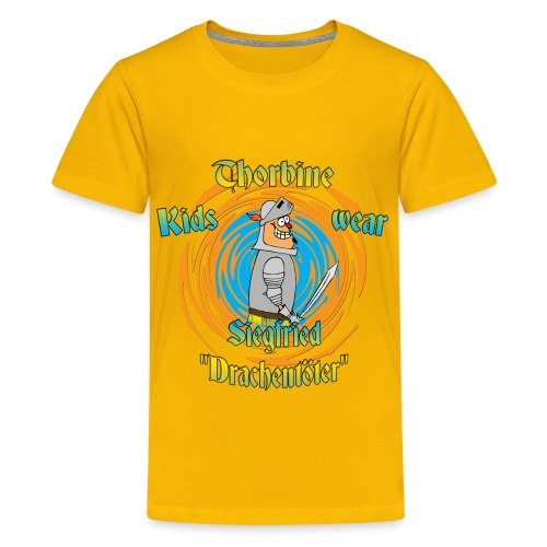 Kinder T-Shirt mit dem Helden Siegfried - Teenager Premium T-Shirt