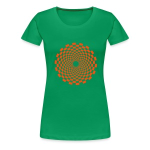 Psychedelic Circle (neon orange) - Girlieshirt klassisch - Frauen Premium T-Shirt