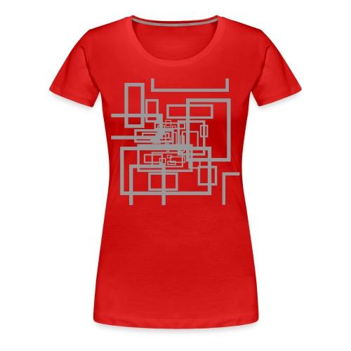 100%COTTON HOLOGRAPHIC DESIGN T-SHIRT - Women's Premium T-Shirt