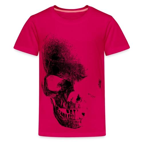 Rosa skull - Premium-T-shirt tonåring