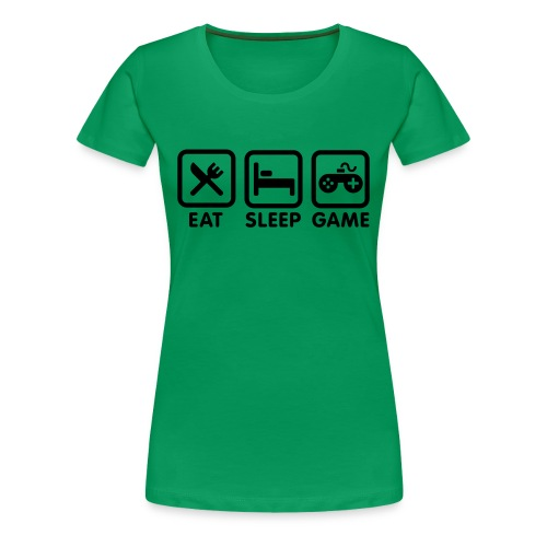 gamer geek t-shirt/ female - Women's Premium T-Shirt