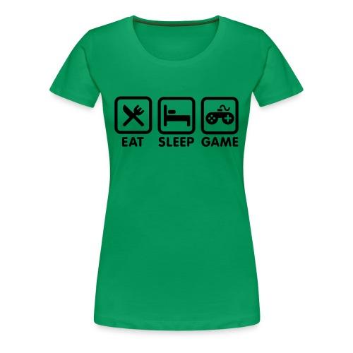 gamer geek t-shirt/ female - Women's Premium T-Shirt