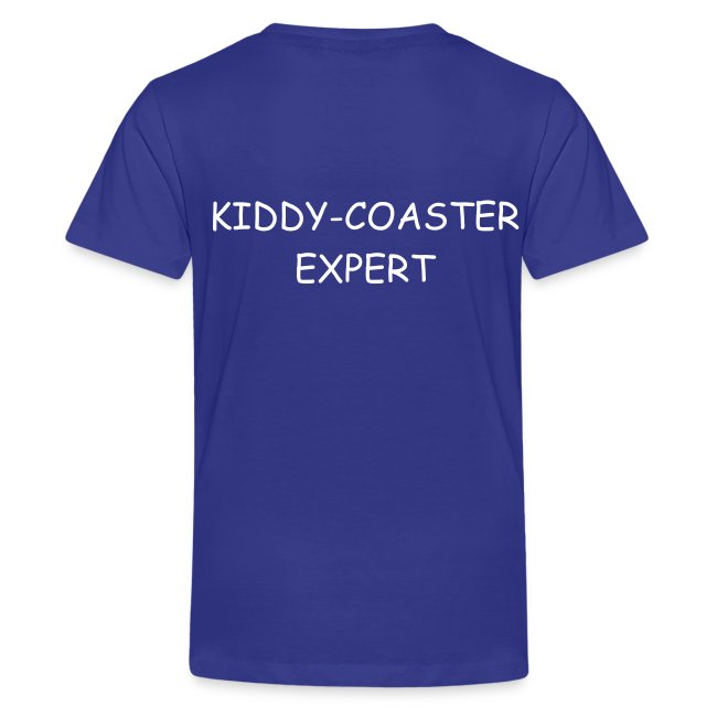 "Kinder T-Shirt mit ""Kiddy-Coaster Expert"" Backprint"