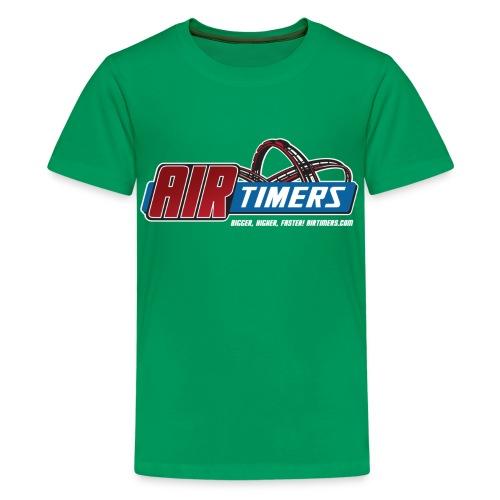 Kinder T-Shirt mit Kiddy-Coaster Expert Backprint - Teenager Premium T-Shirt