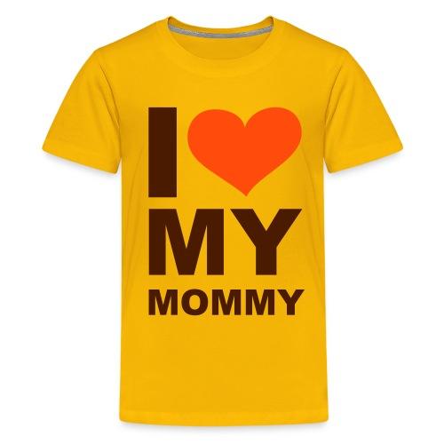 Koszulka dziecięca I love my mammy - Koszulka młodzieżowa Premium