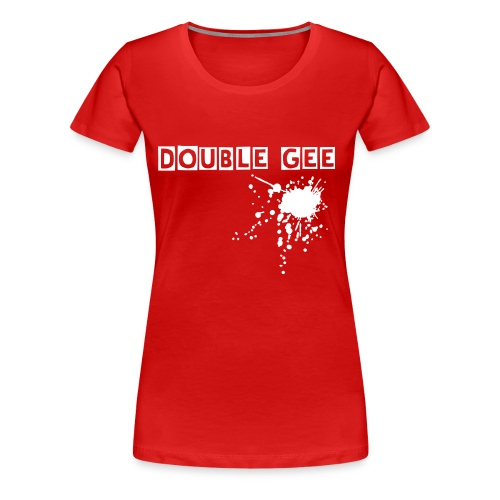 DOUBLE Gee Blood Woman - Frauen Premium T-Shirt