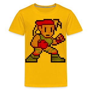 Pixelfighter ArmyGirl (Vintageprint) - Teenage Premium T-Shirt