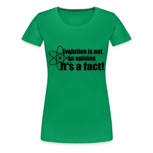 Evolution girlie shirt - Vrouwen Premium T-shirt