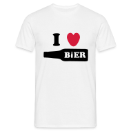 T-shirts ~ Mannen T-shirt ~ I Love Bier