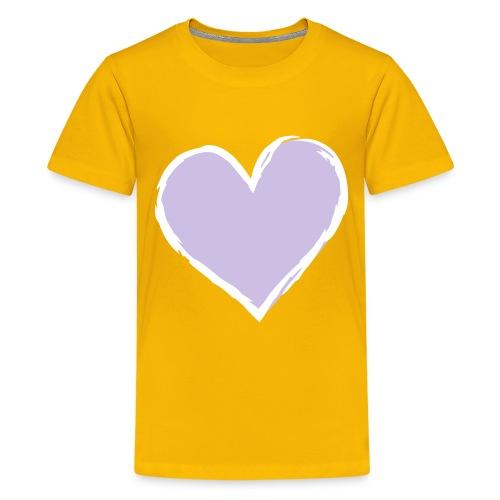 Kid's Classic T-shirt Lavendar heart - Teenage Premium T-Shirt
