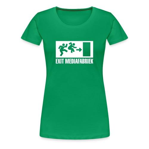 Exit Mediafabriek Logo Groen (collectors item) - Vrouwen Premium T-shirt
