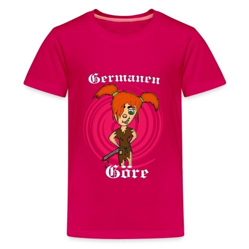 kinder-Shirt klassisch Germanen-Göre - Teenager Premium T-Shirt