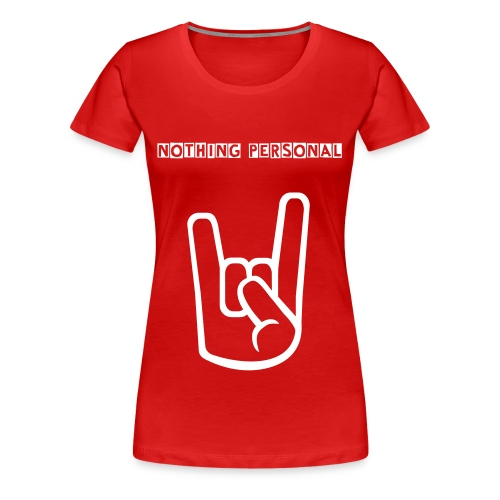 Female red and white shirt - Camiseta premium mujer