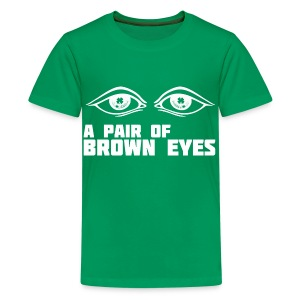A Pair of Brown Eyes - Teenage Premium T-Shirt