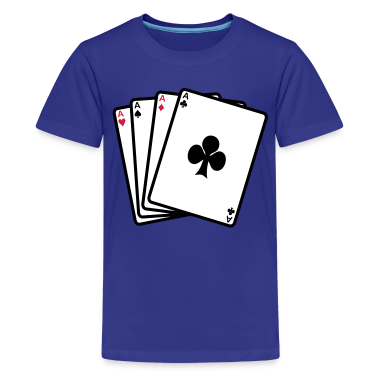 poker cards T-shirt bambini