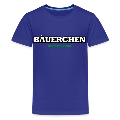 Kindershirt Bäuerchen - Teenager Premium T-Shirt