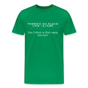 There's no place like ::1/128 (Men's Kakhi) - Men's Premium T-Shirt