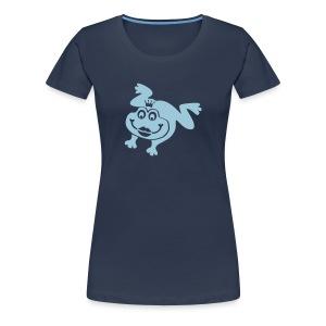 Damen Shirt Frosch Prinzessin Kussmund Tiershirt Shirt Tiermotiv - Frauen Premium T-Shirt