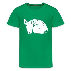 Kinder shirt Reh Rehkitz Rehlein Tiershirt Shirt Tiermotiv - Teenager Premium T-Shirt