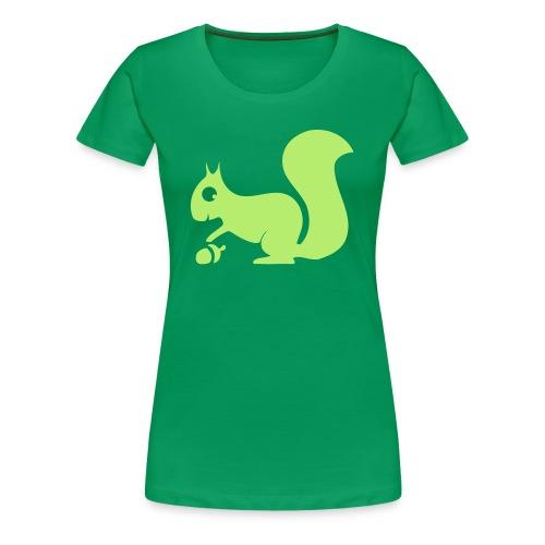 Damen Shirt Eichhörnchen Tiershirt Shirt Tiermotiv - Frauen Premium T-Shirt