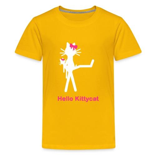Katzenkindershirt Hello Kittycat - Teenager Premium T-Shirt