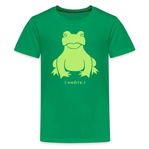 Kinder Shirt Frosch Kröte hellgrün Tiershirt Shirt Tiermotiv - Teenager Premium T-Shirt