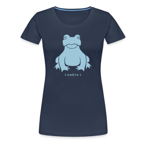 Damen Shirt Frosch Kröte hellblau Tiershirt Shirt Tiermotiv - Frauen Premium T-Shirt