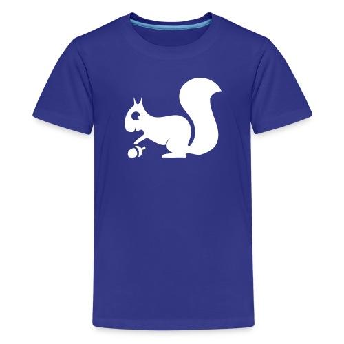 Kinder Shirt Eichhörnchen weiss Tiershirt Shirt Tiermotiv - Teenager Premium T-Shirt