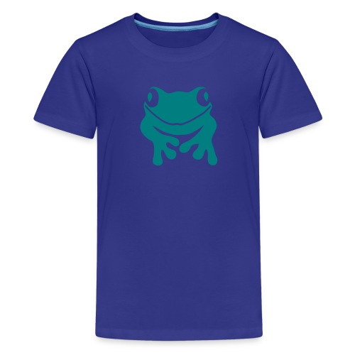 Kinder Shirt Frosch Unke emerald green Tiershirt Shirt Tiermotiv - Teenager Premium T-Shirt