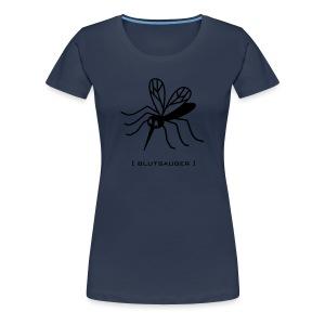Damen Shirt Mücke Moskito Blutsauger schwarz Tiershirt Shirt Tiermotiv - Frauen Premium T-Shirt