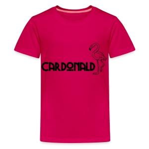 Cardonald Flamingo - Teenage Premium T-Shirt