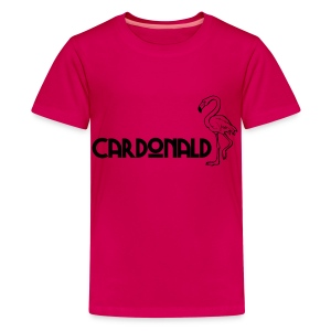 Cardonald Flamingo - Teenage Premium T-Shirt