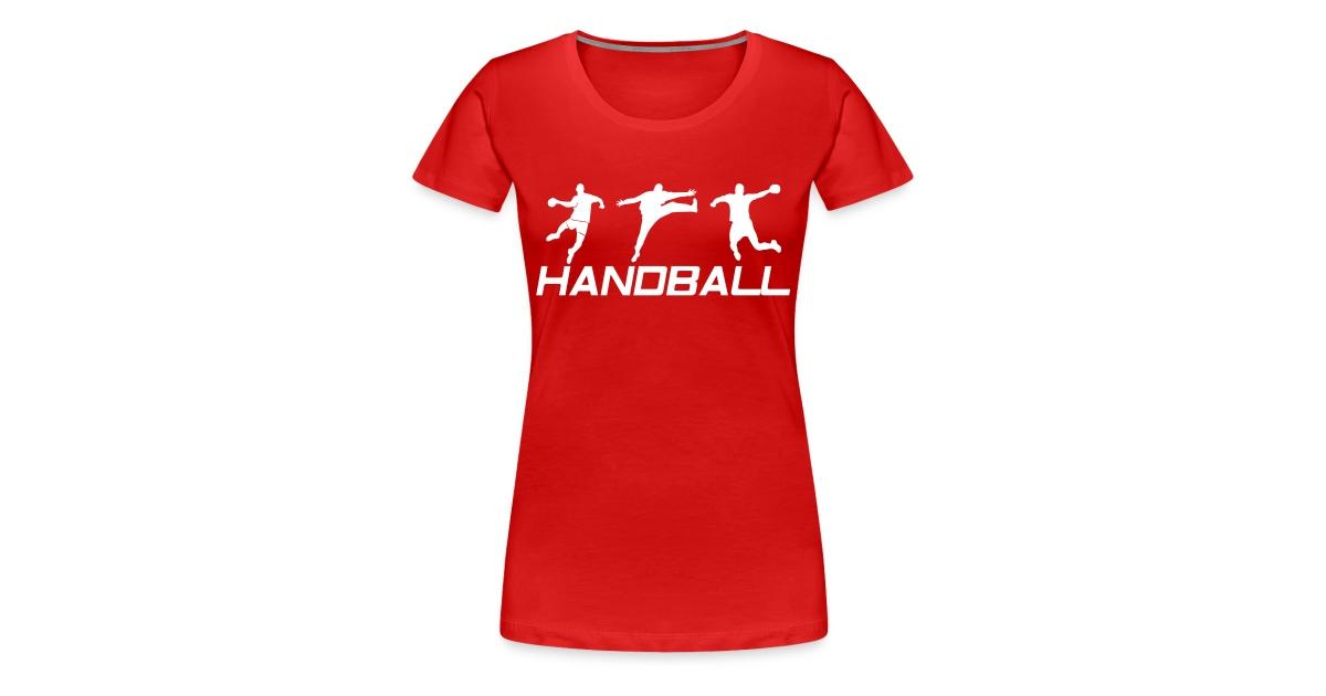 d3eb2b5f7ec2b Tee-shirts Handball   Tee-Shirt Femme Handball Gardien + 2 joueurs - T-shirt  Premium Femme