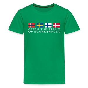 Teenager T-Shirt CATCH THE SPIRIT OF SCANDINAVIA white-lettered - Teenage Premium T-Shirt