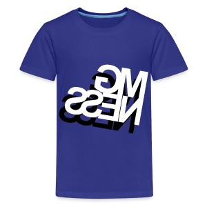 MGness DoubleLogo Blue Kids - Teenager Premium T-Shirt