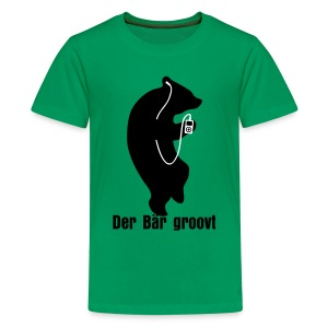 Der Bär Groovt Kinder T-Shirt - Teenager Premium T-Shirt