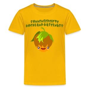 Sonnengereifte Hochland-Haselnuss- Kindershirt - Teenager Premium T-Shirt