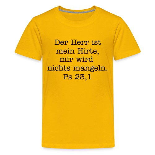 Kindershirt Hirte - Teenager Premium T-Shirt