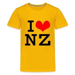 I Love NZ - Teenage Premium T-Shirt