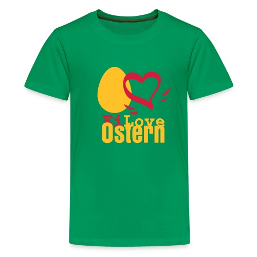 Ich liebe Ostern! (Kindershirt) - Teenager Premium T-Shirt