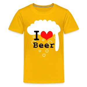 I Love Beer - Teenage Premium T-Shirt