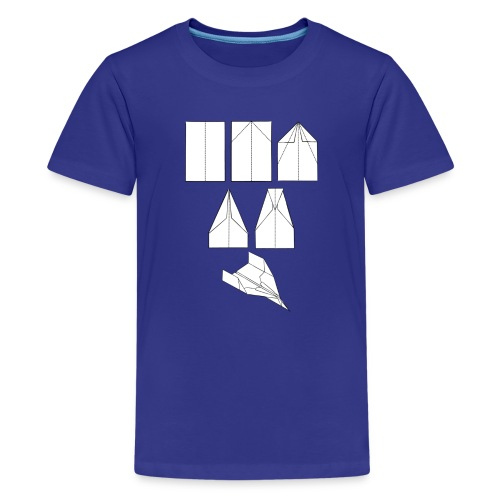 Vliegtuigen Origami - Teenager Premium T-shirt