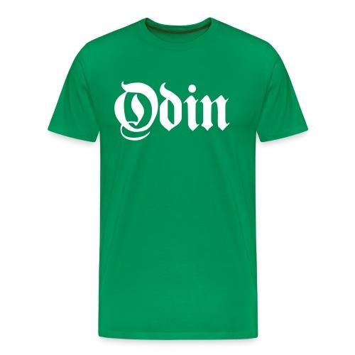 Odin t-shirt- green/white - Men's Premium T-Shirt