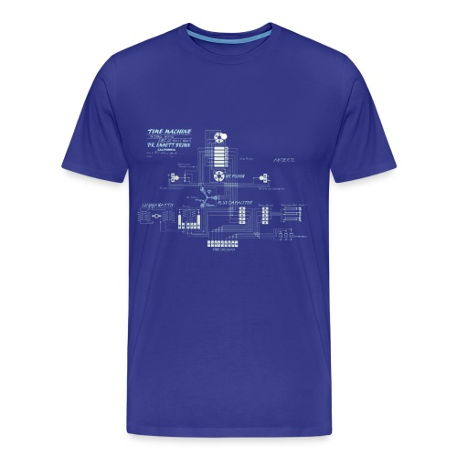 Time machine blue print Men's classic T-Shirt - Men's Premium T-Shirt